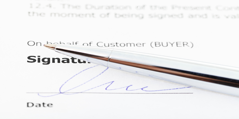 Documents Available for Electronic Signature